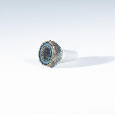Buko Glass Geode Slide - 14mm - Shifty Satin Peach (CFL)