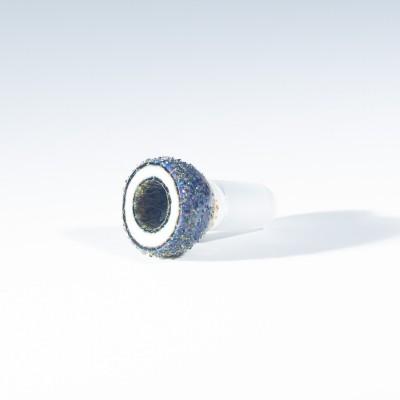 Buko Glass Geode Slide - 18mm - Pink Ivory (CFL)