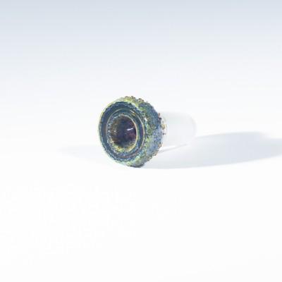 Buko Glass Geode Slide - 18mm - Illuminati (UV)