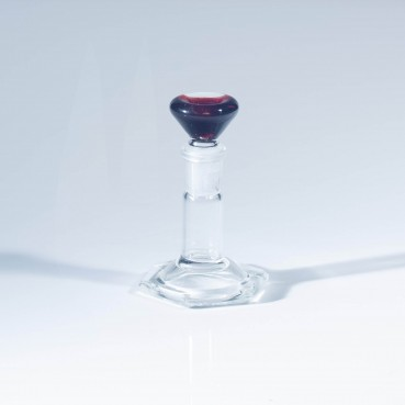 Champloo Glass 14mm Martini Slide - Blue Stardust & Red Elvis