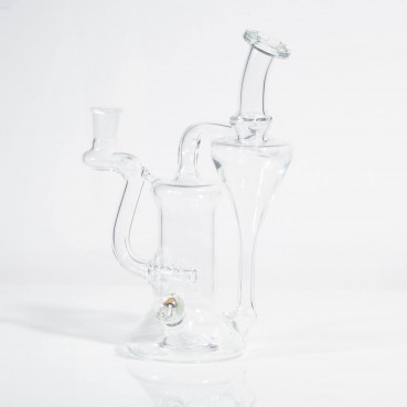 Greenbelt Clear 14mm Recycler w/Mushroom Millie