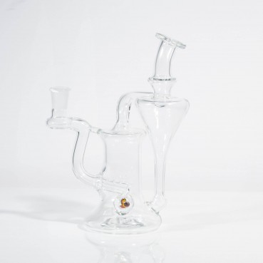 Greenbelt Clear 14mm Recycler w/Devil Flanders Millie