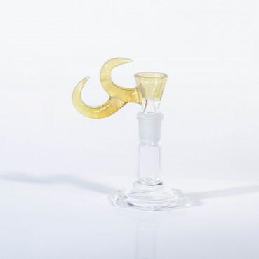 Gump Glass 14mm Double Horned Slide