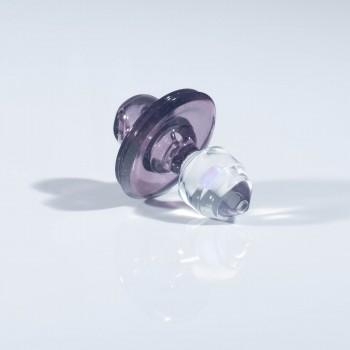 JS Glass Collidor Cap - Belladonna With Beveled Opal Handle