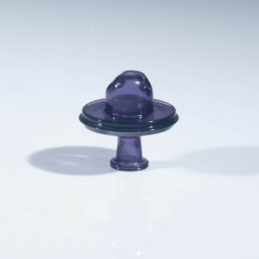 JS Glass Collidor Cap - Gold Amethyst Sparkle