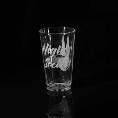 Lord Kramdar Higher Society Pint Glass w/ Anubis Logo