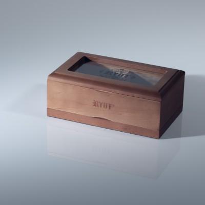 RYOT 4x7 Glass Top Screen Box in Walnut