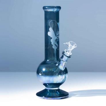 "Lord Kramdar x Anubis Glass ""Trippy Marge"" Metal Fume Bubble Beaker"