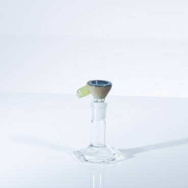 Shulman Glass 14mm Geode Slide w/ Faceted Crystal Handle
