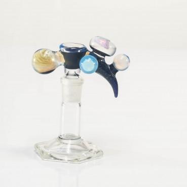 Bando Glass Worked Fume & Crushed Opal Slide 14mm #3