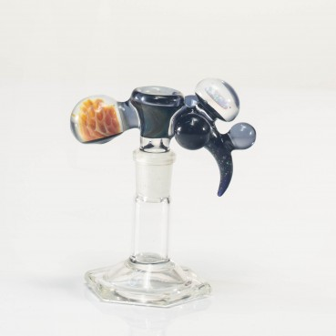 Bando Glass Worked Fume & Crushed Opal Slide 14mm #4