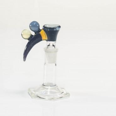 Bando Glass Fume & Crushed Opal Slide 14mm #22