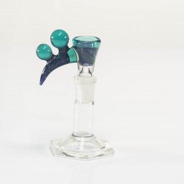 Bando Glass Fume & Crushed Opal Slide 14mm #23