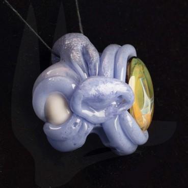 Casto Lavender Fumed Eye Pendant