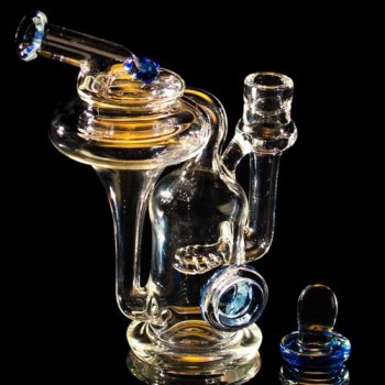 Robinhood Glass Recycler Blue