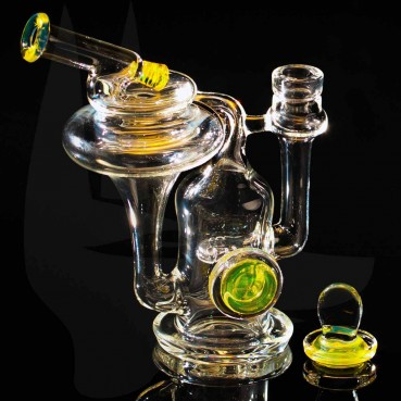 Robinhood Glass Recycler Yellow w/Carb Cap