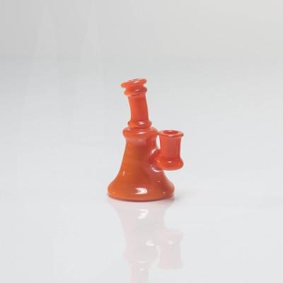 Skrillinger Glass Micro Traveler Rig 10mm Orange Crayon