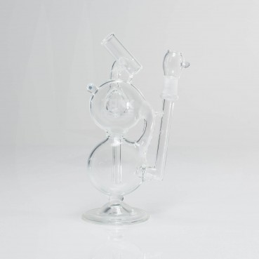 Tank Glass Clear Disc Cycler 14mm Male