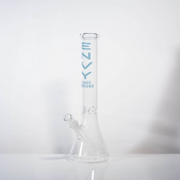 "Envy Glass 5mm Clear Beaker 15"" w/Ice Pinches"