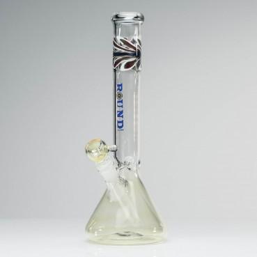 Round Glass Beaker Blue Label